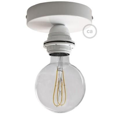 Fermaluce Monochrome, kovinsko svetilo z grlom E27 za stensko ali stropno montažo.