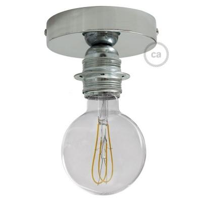 Fermaluce Glam, kovinsko svetilo z grlom E27 za stensko ali stropno montažo