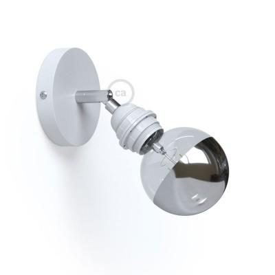 Fermaluce Metallo 90° Monochrome, nastavljivo svetilo z grlom E27 za stensko ali stropno montažo