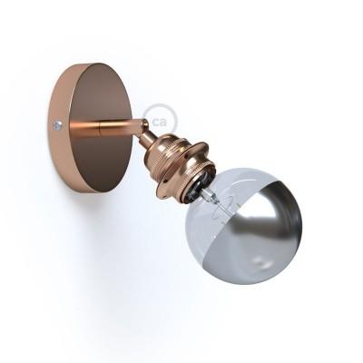 Fermaluce Metallo 90° Glam Metal, nastavljivo svetilo z grlom E27 za stensko ali stropno montažo