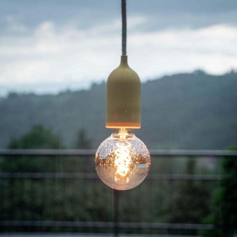 Zunanje svetilo s tekstilnim kablom, nosilcem ter silikonsko rozeto in grlom IP65, EIVA PASTEL