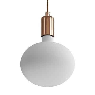 Viseče svetilo s tekstilnim kablom in kovinskimi detajli - Izdelano v Italiji
