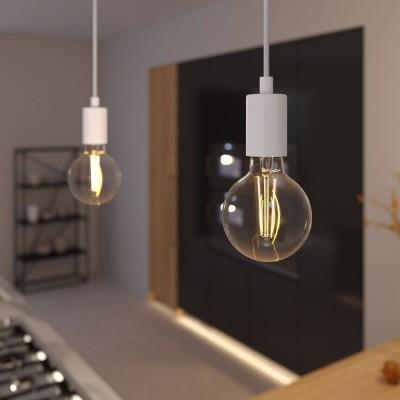Viseče svetilo Monochrome s tekstilnim kablom - Izdelano v Italiji