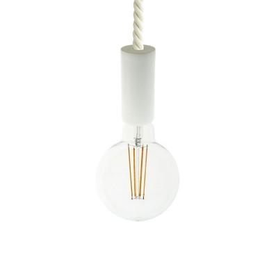 Viseče svetilo z lesenimi elementi in 16mm vrvjo XL - Izdelano v Italiji