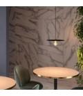 Viseče svetilo s tekstilnim kablom, Ellepi senčilom in kovinskimi detajli- Izdelano v Italiji
