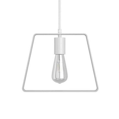 Viseče svetilo s tekstilnim kablom, Duedì Base senčilom in kovinskimi detajli- Izdelano v Italiji
