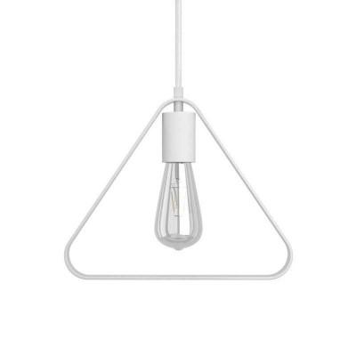 Viseče svetilo s tekstilnim kablom, Duedì Apex senčilom in kovinskimi detajli- Izdelano v Italiji