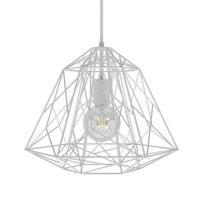 Viseče svetilo s tekstilnim kablom in Apollo senčilom - Izdelano v Italiji