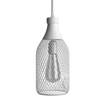 Viseče svetilo s tekstilnim kablom in senčilom Jéroboam - Izdelano v Italiji