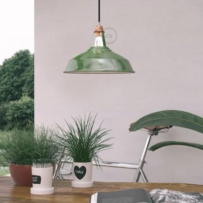 Viseče svetilo s tekstilnim kablom in Harbour senčilom - Izdelano v Italiji