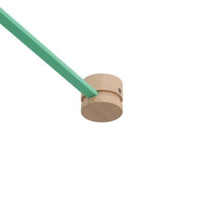 Končni leseni nosilec za verigo luči, Filé sistem.