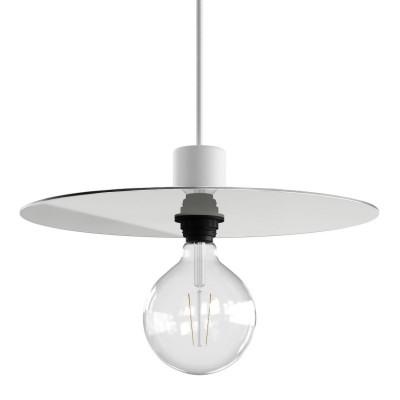 Ellepì ploščato senčilo iz Dibond plošče za zunanja viseča svetila, premer 40 cm – proizvedeno v Italiji