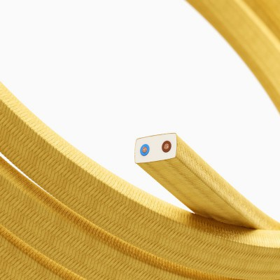 Električen kabel za verigo luči rumeni bombaž CM10