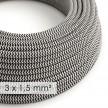 Okrogel kabel večjega preseka (3x1,50) - zigzag črn RZ04