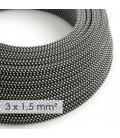 Okrogel kabel večjega preseka (3x1,50) - 3D črno-bel RT41