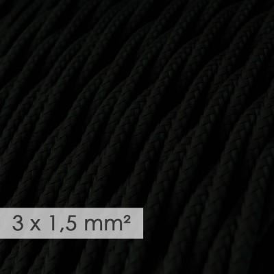 Zavit kabel večjega preseka (3x1,50) - črn TM04