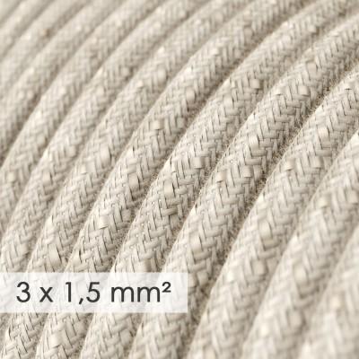 Okrogel kabel večjega preseka (3x1,50) - naravni lan RN01