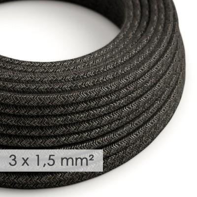 Okrogel kabel večjega preseka (3x1,50) - naravni antracit lan RN03
