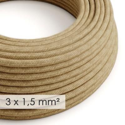 Okrogel kabel večjega preseka (3x1,50) - naravna juta RN06