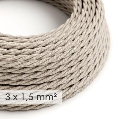 Zavit kabel večjega preseka (3x1,50) - naravni lan TN01