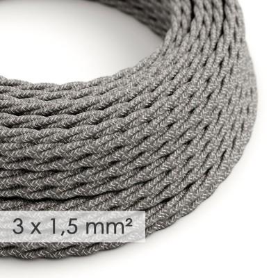 Zavit kabel večjega preseka (3x1,50) - siv naravni lan TN02
