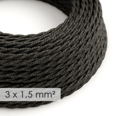 Zavit kabel večjega preseka (3x1,50) - naravni antracit lan TN03
