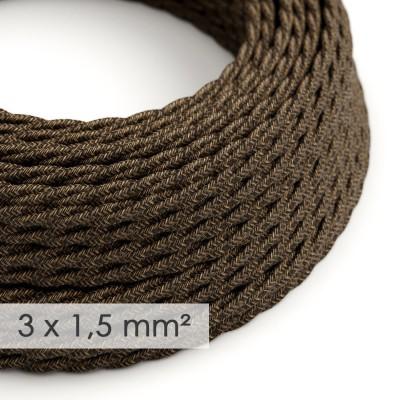 Zavit kabel večjega preseka (3x1,50) - naravni rjavi lan TN04