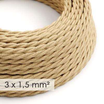 Zavit kabel večjega preseka (3x1,50) - naravna juta TN06