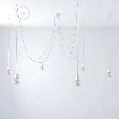 Keramično svetilo s 6 izpusti, izdelano v Italiji