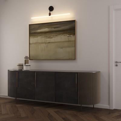 Set stenske svetilke z grlom S14d Syntax na črni kovinski cevi