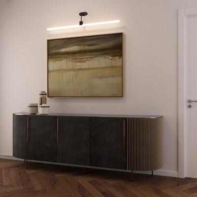 Stensko svetilo s Syntax S14 grlom, L-oblike in ovalno leseno rozeto