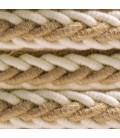2XL prepleten električni kabel iz jute in bombaža 2x0,75. Premer 24mm.