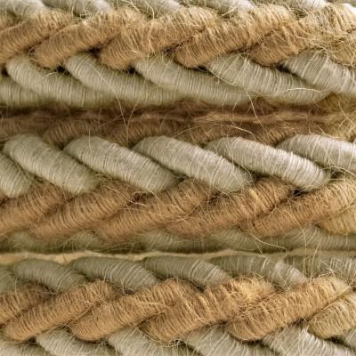 2XL prepleten električni kabel iz jute in lana 2x0,75. Premer 24mm.