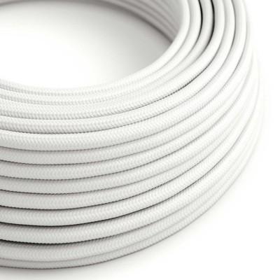 Okrogel tekstilen električen kabel RM01 - bel