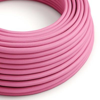 Okrogel tekstilen električen kabel RM08 - fuksija