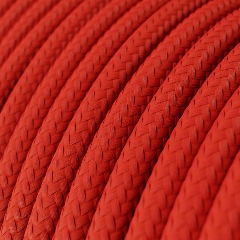 Okrogel tekstilen električen kabel RM09 - rdeč