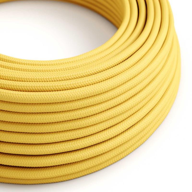 Okrogel tekstilen električen kabel RM10 - rumen