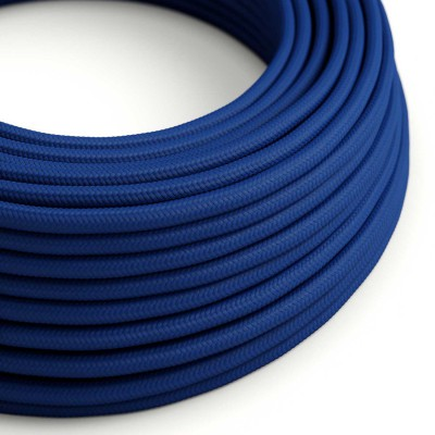 Okrogel tekstilen električen kabel RM12 - moder