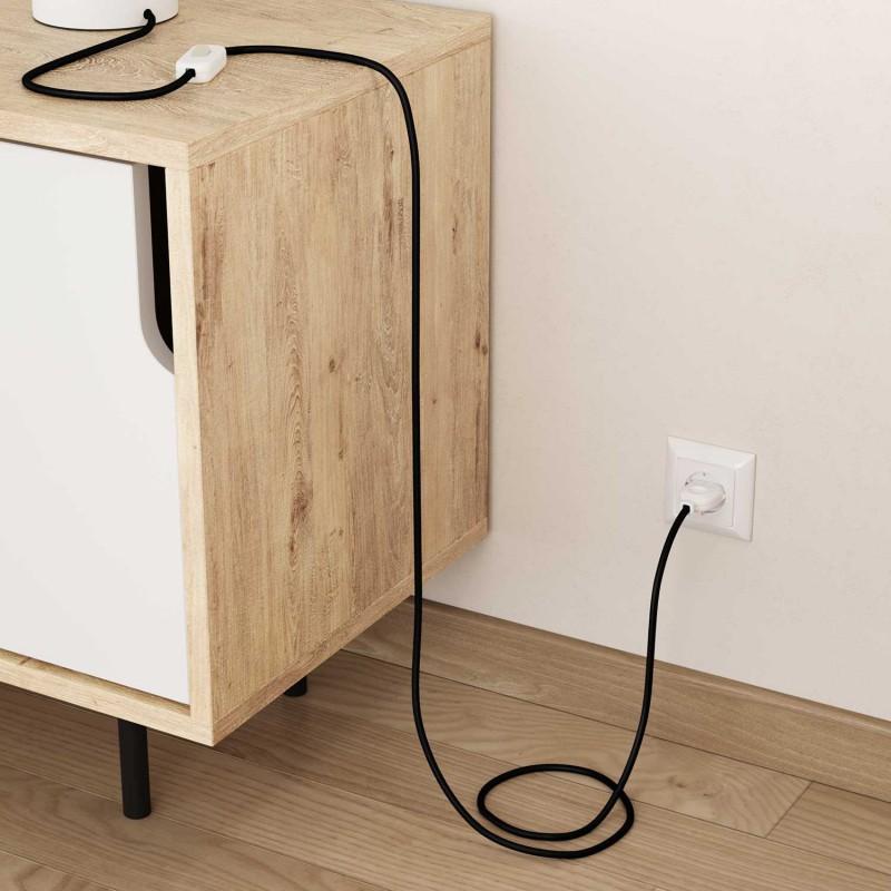 Okrogel tekstilen električen kabel RM04 - črn