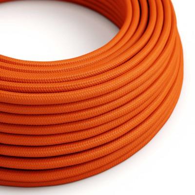 Okrogel tekstilen električen kabel RM15 - oranžen