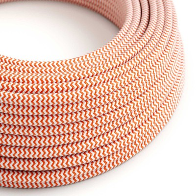Okrogel tekstilen električen kabel RZ15 - oranžen