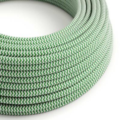 Okrogel tekstilen električen kabel RZ06 - zelen