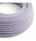 Okrogel tekstilen električen kabel RZ07 - lila