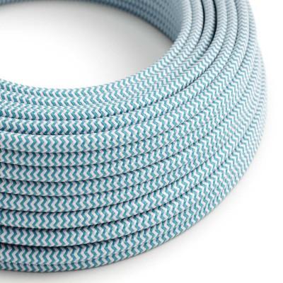 Okrogel tekstilen električen kabel RZ11 - azur