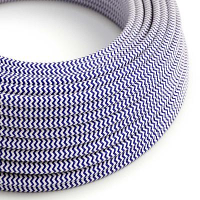 Okrogel tekstilen električen kabel RZ12 - moder
