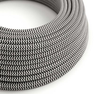 Okrogel tekstilen električen kabel RZ04 - črn