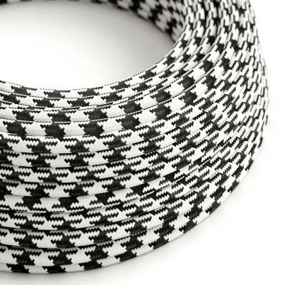 Okrogel tekstilen električen kabel RP04 - črn