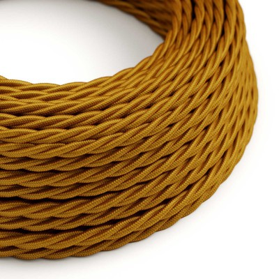 Zavit tekstilen električen kabel TM05 - zlat