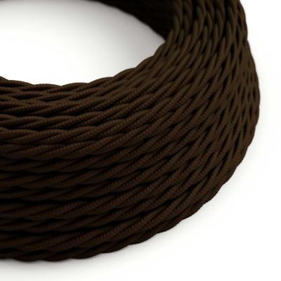 Zavit tekstilen električen kabel TM13 - rjav