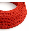 Zavit tekstilen električen kabel TM09 - rdeč